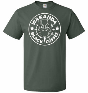 Wakanda Black Coffee Unisex T-Shirt - Forest Green / S - T-Shirt