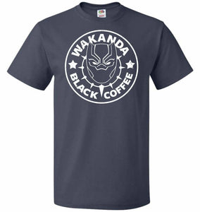 Wakanda Black Coffee Unisex T-Shirt - J Navy / S - T-Shirt