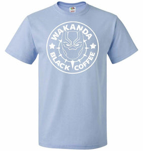 Wakanda Black Coffee Unisex T-Shirt - Light Blue / S - T-Shirt