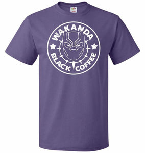 Wakanda Black Coffee Unisex T-Shirt - Purple / S - T-Shirt