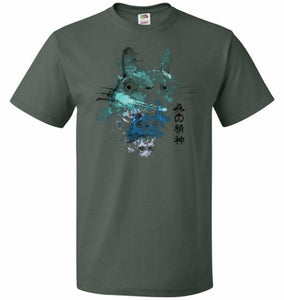 Watercolor Totoro Unisex T-Shirt - Forest Green / S - T-Shirt