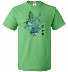 Watercolor Totoro Unisex T-Shirt - Kelly / S - T-Shirt