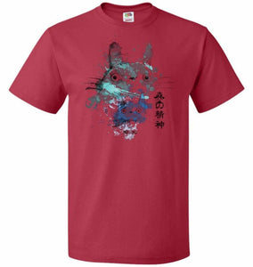 Watercolor Totoro Unisex T-Shirt - True Red / S - T-Shirt