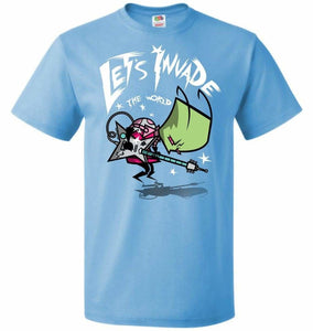 Zim Pilgrim Unisex T-Shirt - Aquatic Blue / S - T-Shirt