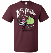 Load image into Gallery viewer, Zim Pilgrim Unisex T-Shirt - Maroon / S - T-Shirt