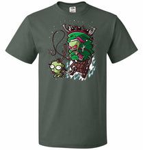 Load image into Gallery viewer, Zime That Stole Christmas Unisex T-Shirt - Forest Green / S - T-Shirt