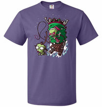 Load image into Gallery viewer, Zime That Stole Christmas Unisex T-Shirt - Purple / S - T-Shirt