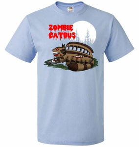 Zombie Catbus Unisex T-Shirt - Light Blue / S - T-Shirt