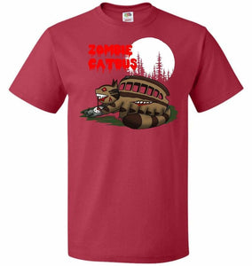 Zombie Catbus Unisex T-Shirt - True Red / S - T-Shirt