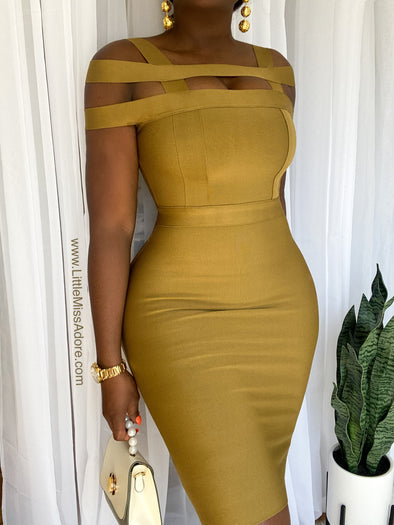 EXCLUSIVE GOLD BONDAGE | DRESS