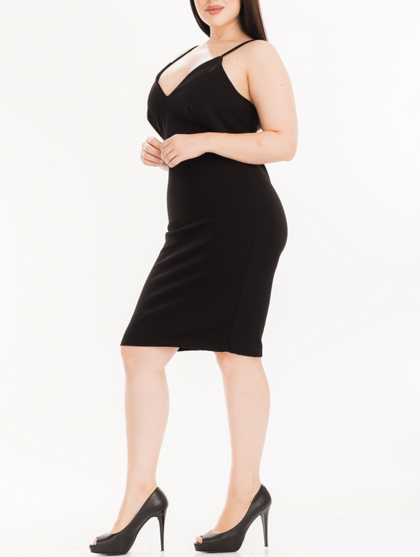 THE PERFECT LITTLE BLACK DRESS | (PLUS SIZE)