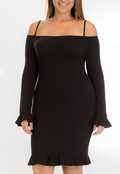 BILLY JEAN OFF-SHOULDER RUFFLE DRESS | (PLUS SIZE)