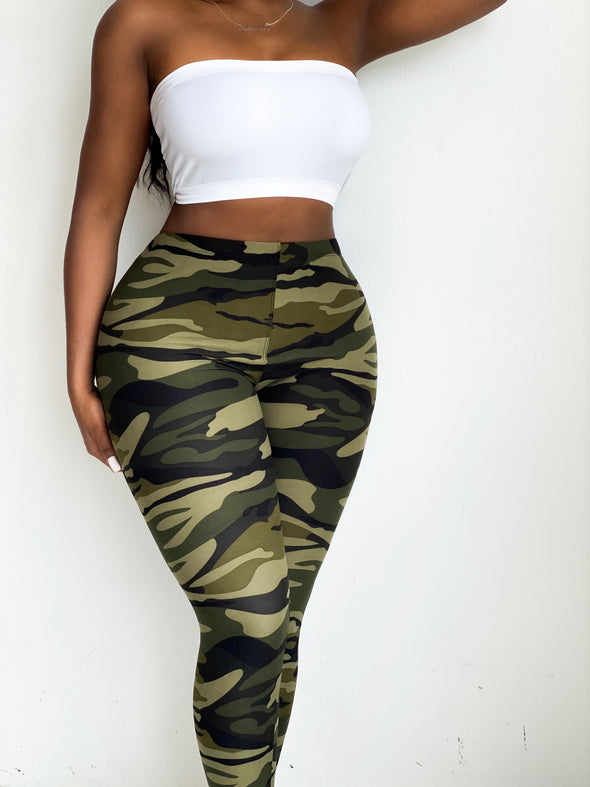 CAMOUFLAGE COMBAT LEGGINGS | BOTTOM