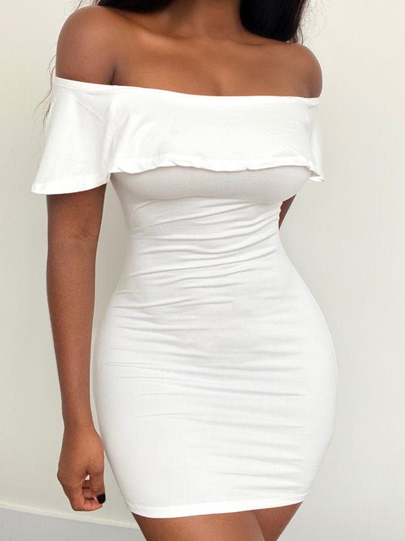 FINESSE OFF-SHOULDER MINI | DRESS