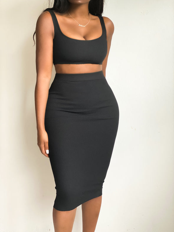 OBSESSED MIDI SKIRT | SET
