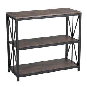 Estanter¨ªa de 3 Tabletees Honourable Mdf Color Nogalshelves GOMYHOME
