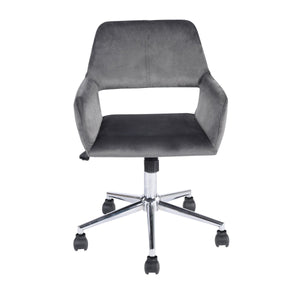 Silla de Oficina Homy Office Ross en Velvet con Base Cromado Gris (Cactus/Rosa)office chair GOMYHOME