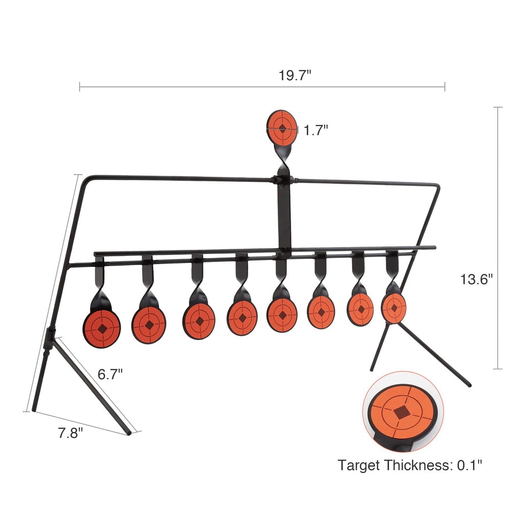 1.7 inch Shooting Targets for BB Pellet Airsoft Guns Dimensions