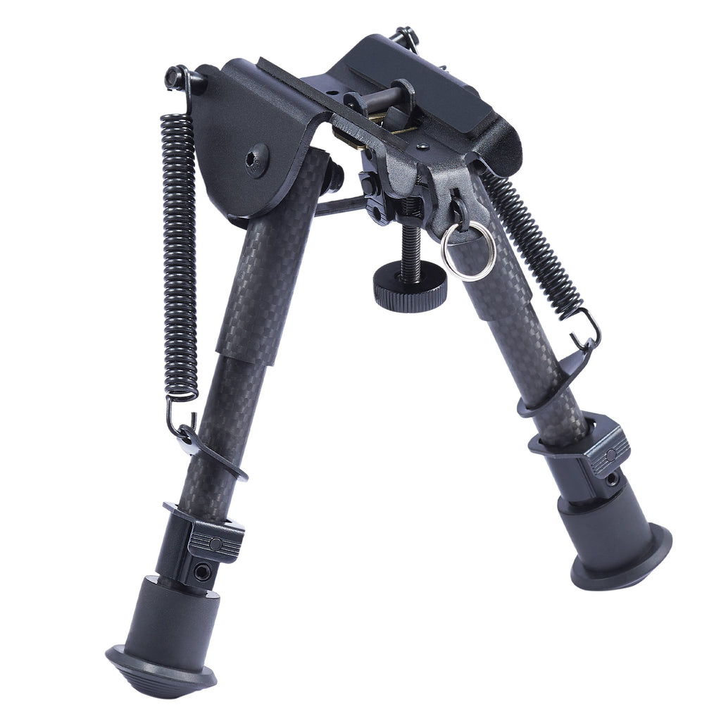"6""-9"" Adjustable Carbon Fiber Rifle Bipod with Picatinny Adapter for Firearms"