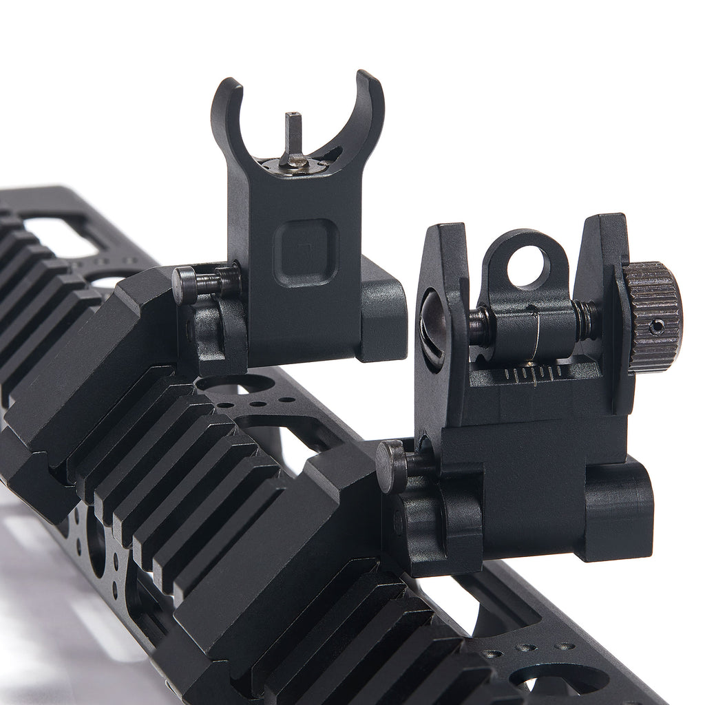 45 Degree Offset Flip Up Iron Sights for Picatinny Rail