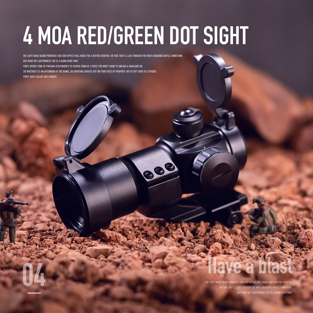 Pinty 4 MOA Red/Green Tactical Reflex Sight