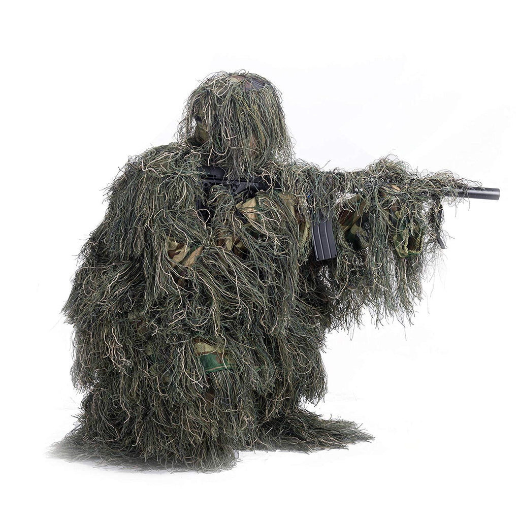 "Pinty ""3D"" Ghillie Suit 4-Piece w/ Tactical Camouflage Bag"