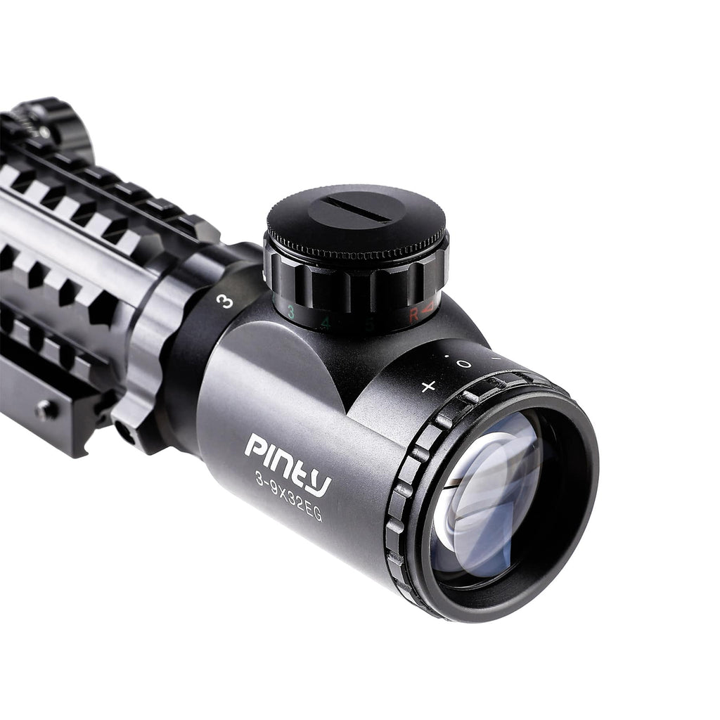 Pinty 4 in 1 Rifle Scope/ Rangefinder/ Green Laser/ Red-Green Dot Sight