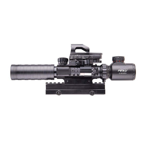 Pinty | Rifle Scope 3-9x32mm EG Rangefinder/4 Reticle Red & Green/Red Dot