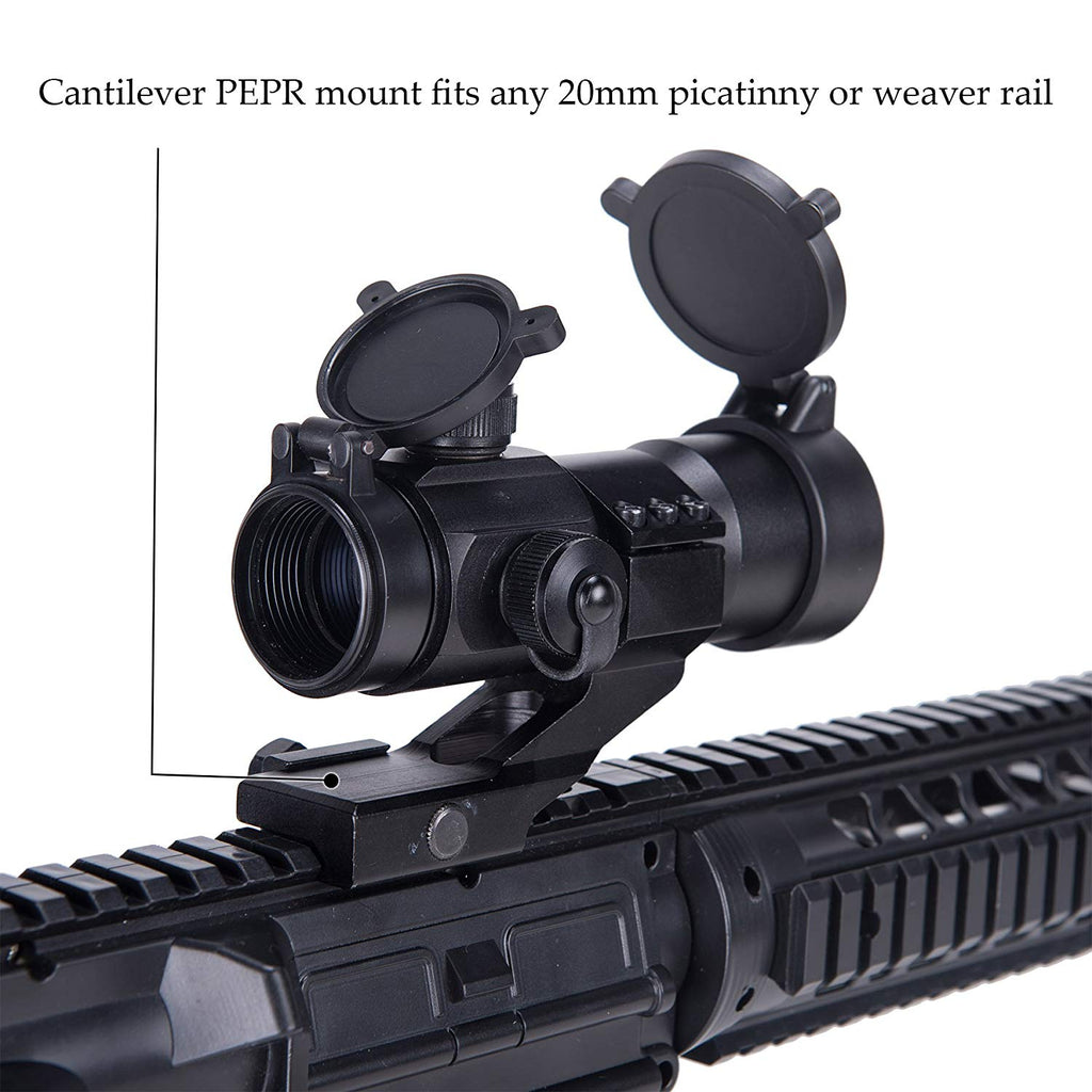 Pinty 4 MOA Red/Green Tactical Reflex Sight with Picatinny Cantilever Mount