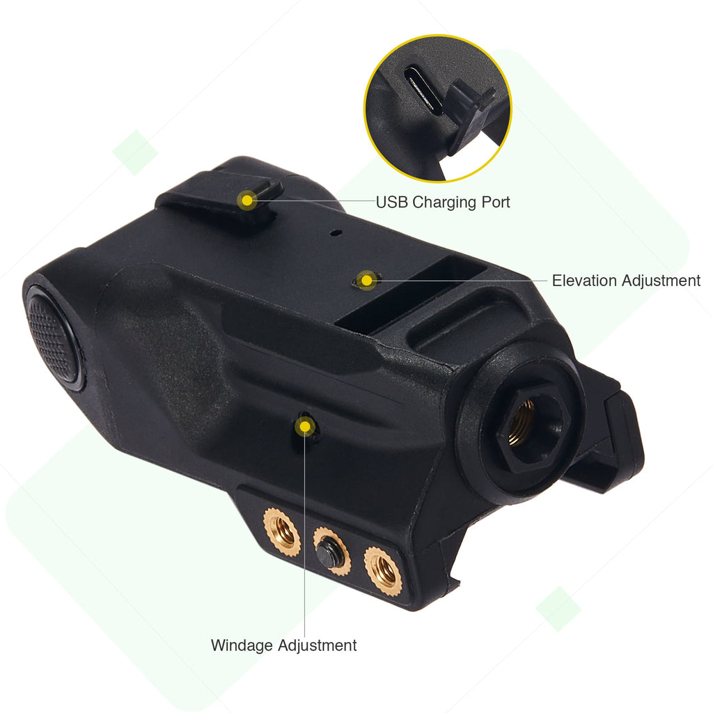 Compact Low Profile Green Dot Laser Pointer Tactical Pistol Sight