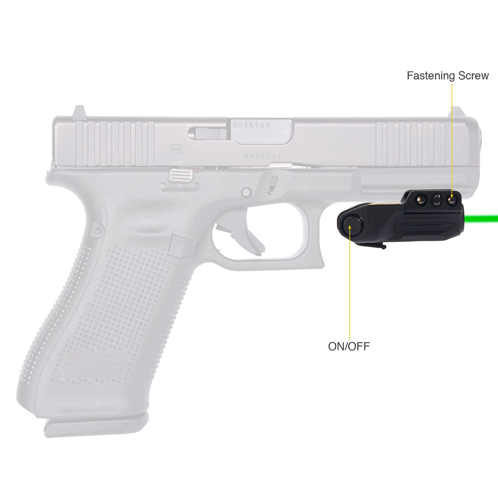 Green Laser Sight for 20mm Picatinny Rail Pistols and Handguns