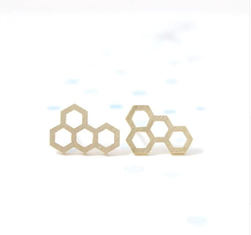 Blanche - Honeycomb Earrings