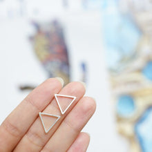 Load image into Gallery viewer, Ellie - Open Triangle Earrings