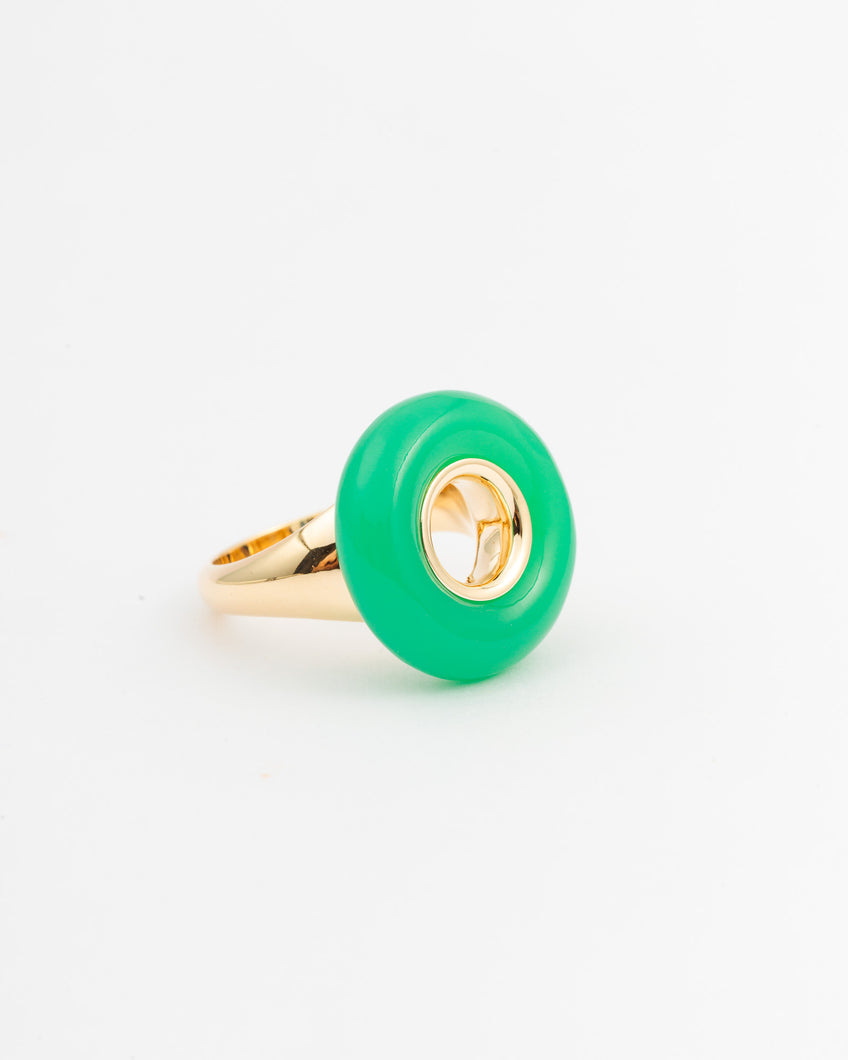 CHRYSOPRASE VOID RING