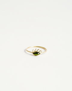 Tourmaline Eye Ring