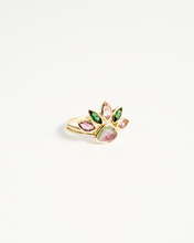 Load image into Gallery viewer, Tourmaline Flower Stacking Ring