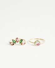 Load image into Gallery viewer, TOURMALINE RAINBOW STACKING RINGS