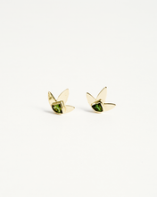 Load image into Gallery viewer, Flower Tourmaline earing