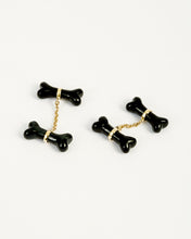 Load image into Gallery viewer, ONYX BONES CUFFLINKS