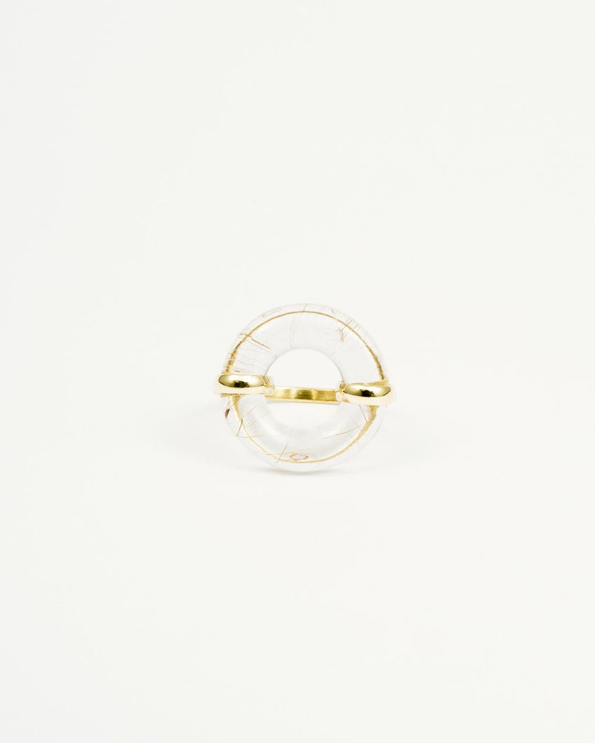 DONUT RUTILE QUARTZ RING
