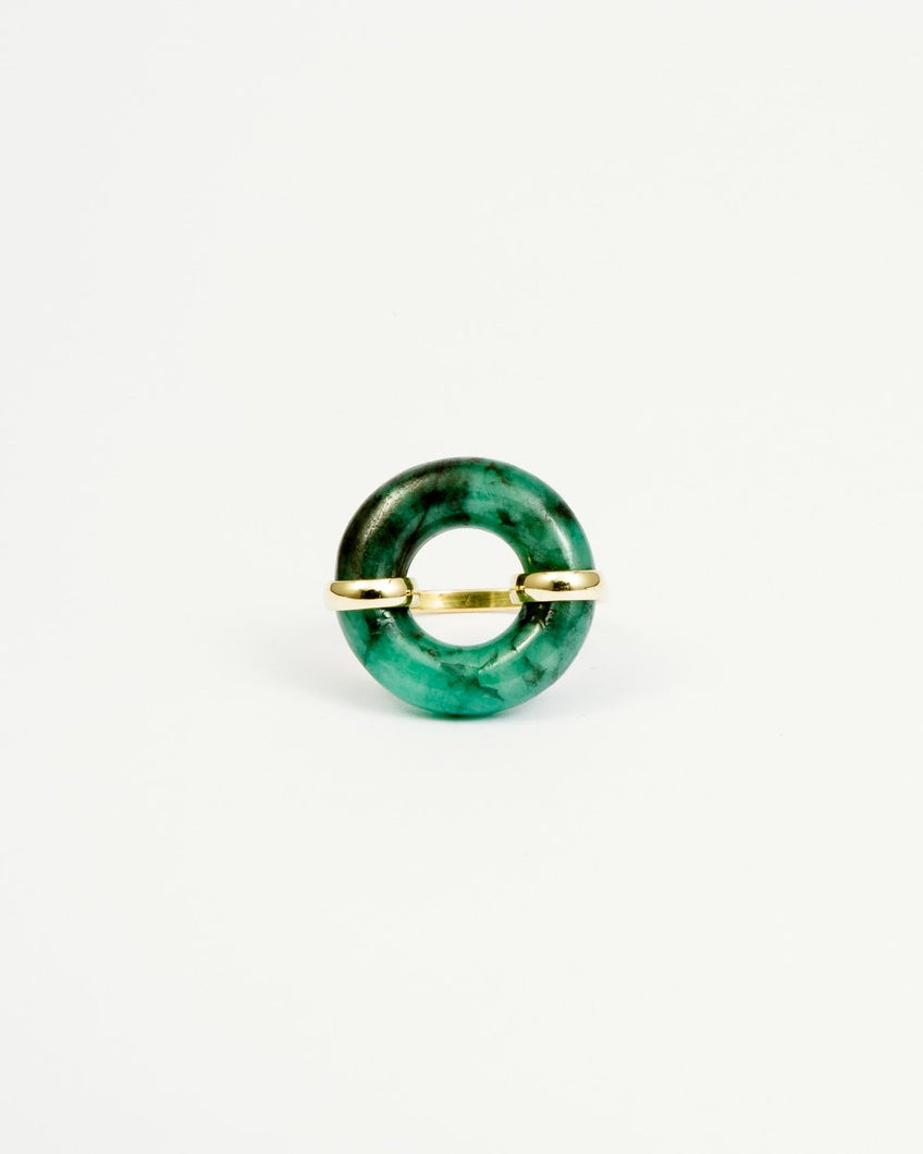 DONUT EMERALD RING