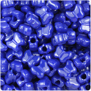 50 x Dark Sapphire Sparkle Stars 13mm Highest Quality Pony Beads