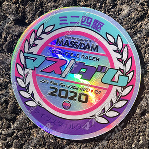 Mass/Dam 2020 Circle Hologram Sticker - Pink & Purple Ver.