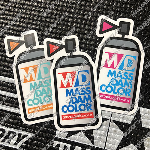 LIMITED Mass/Dam Color Sticker Set A - 3 Pack