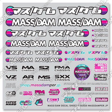 Mass/Dam Decal Sheet N: Pink & Purple Collection