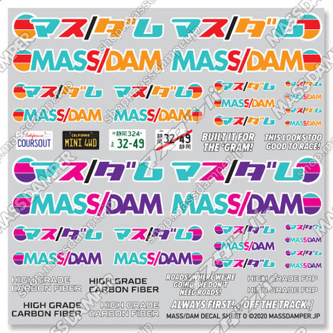 Mass/Dam Decal Sheet O: MultiColor Collection
