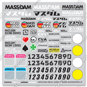 Mass/Dam Decal Sheet R: Essentials II