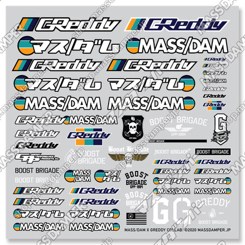 Mass/Dam x GReddy Collab. Mini Decal Sheet