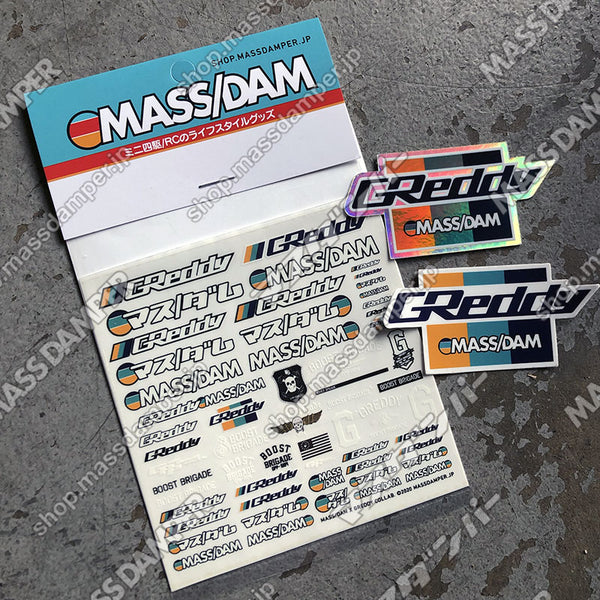 Mass/Dam x GReddy Collab. Decal & Sticker Set