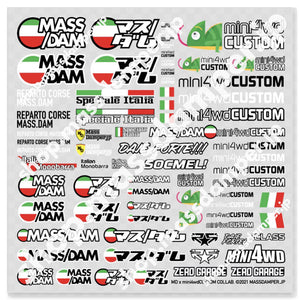 Mass/Dam x mini4wdCUSTOM Speciale Italia Mini Decal Sheet